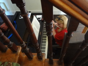 Lizzy on Flute, Piano & Voice