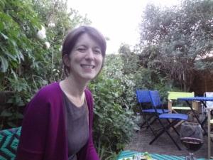 Anna in her garden