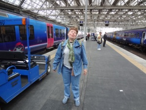 Happy to be in Glasgow Central
