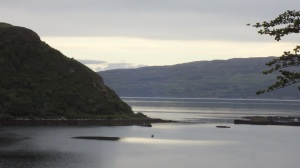 Isle of Raasay.t lies between Skye and the Mainland of Scotland. I Can you see that little bit of sun?